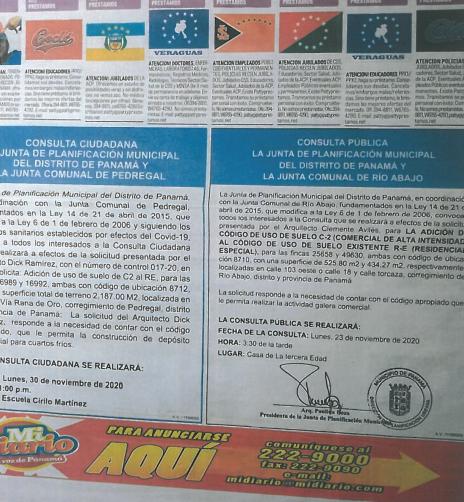 Consulta Pública Río Abajo #009